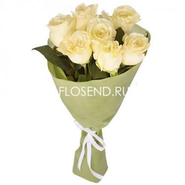 7 Белых роз